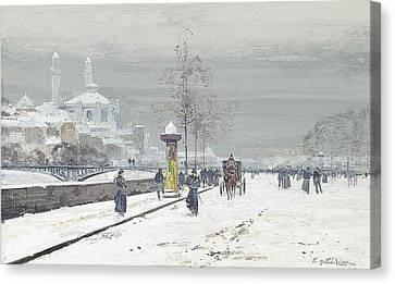 Paris Canvas Print by Eugene Galien