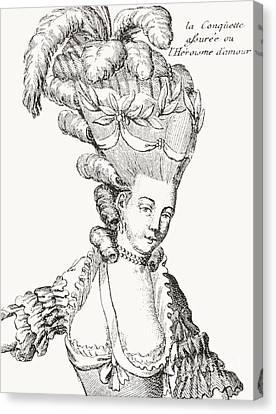 Hairstyle Canvas Print - Paris Fashion, 1776 by French School