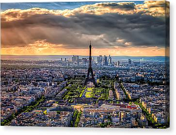 Canvas Print featuring the photograph Paris From Above by Tim Stanley