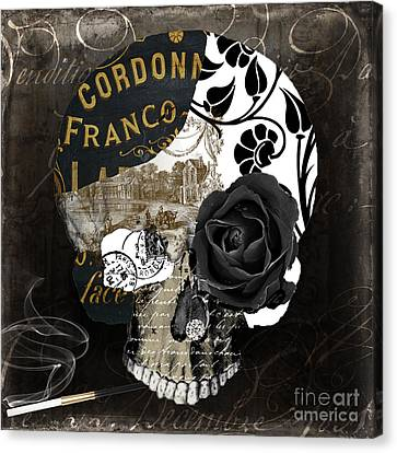 Paris Halloween II Canvas Print by Mindy Sommers