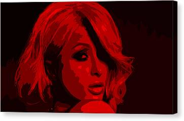 Nicky Hilton Canvas Print - Paris Hilton by Brian Reaves