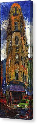 Paris Hotel 7 Avenue Canvas Print
