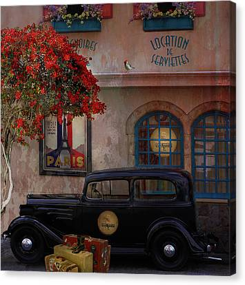 Canvas Print featuring the digital art Paris In Spring by Jeff Burgess
