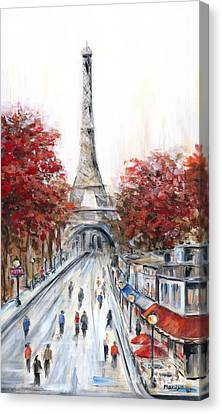 Paris In The Fall Canvas Print by Marilyn Dunlap