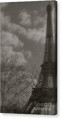Paris In The Spring Canvas Print by Louise Fahy