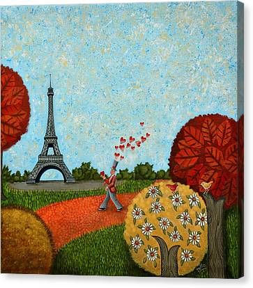 Paris Je T Aime Canvas Print by Graciela Bello