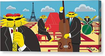 Daniel Canvas Print - Paris Kats - The Coolkats by Darryl Glenn Daniels