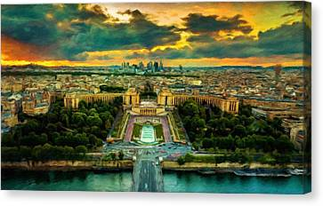 Paris Landscape Canvas Print by Vincent Monozlay