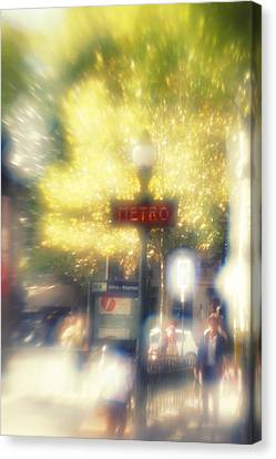 Paris Metro Canvas Print by Alison Stevenson