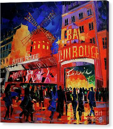Paris Nights By Mona Edulesco Canvas Print by Mona Edulesco