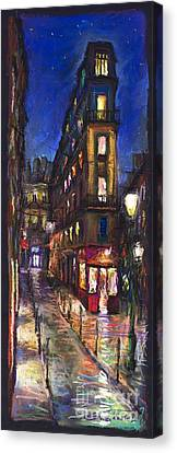 Paris Old Street Canvas Print by Yuriy  Shevchuk