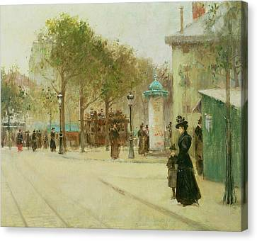Victorian Canvas Print - Paris by Paul Cornoyer