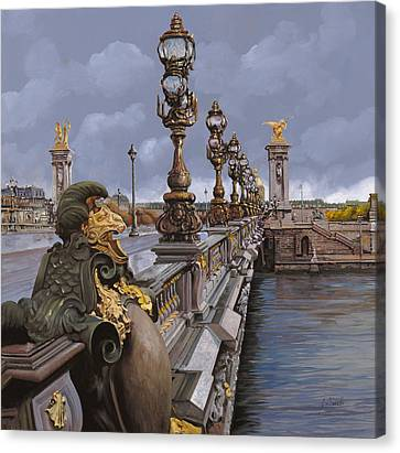 Paris-pont Alexandre IIi Canvas Print by Guido Borelli