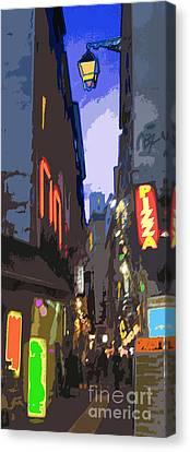 Digital Pfoto Canvas Print - Paris Quartier Latin 01  by Yuriy  Shevchuk
