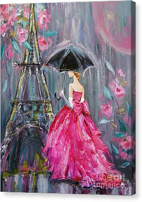 Paris Rain Canvas Print