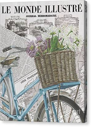 Bicycle Race Canvas Print - Paris Ride 1 by Debbie DeWitt