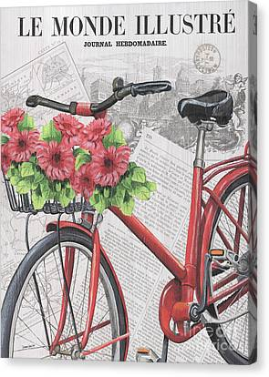 Bicycle Race Canvas Print - Paris Ride 2 by Debbie DeWitt