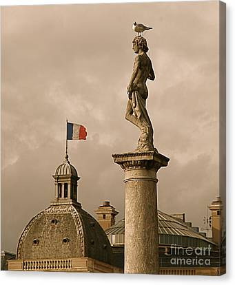 Paris Rooftops II Canvas Print by Louise Fahy