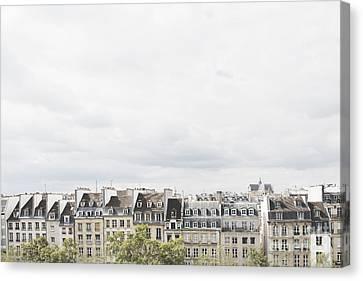 Paris Rooftops View From Centre Pompidou Canvas Print