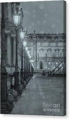 Long Street Canvas Print - Paris. Louvre At Twilight by Juli Scalzi