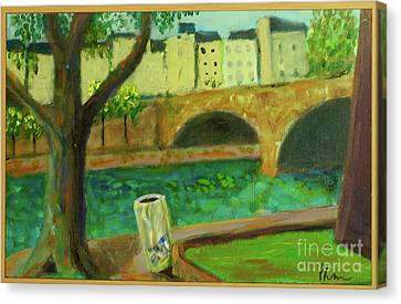 Paris Rubbish Canvas Print