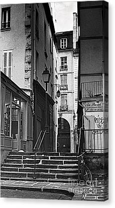 Lamp Post Canvas Print - Paris Stairs by Madeline Ellis