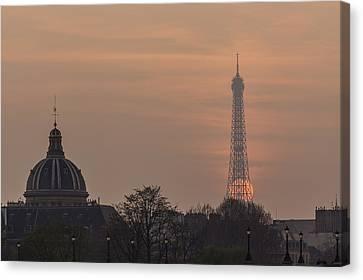 Paris Sunset II Canvas Print