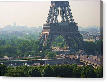 Paris Tour Eiffel 301 Pollution, Pollution Canvas Print by Pascal POGGI