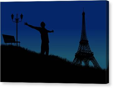 Paris Why Canvas Print by Joe Hamilton