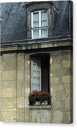 Paris Window Canvas Print
