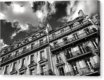 Parisian Buildings Canvas Print by Olivier Le Queinec
