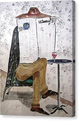 Parisian Daily Canvas Print