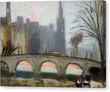 Canvas Print featuring the painting Parisian Gray by Gary Coleman