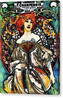 Parisian Lady Van Gogh Style Expressionism Canvas Print by Georgiana Romanovna