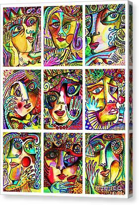 -parisian Nude Ladies Canvas Print by Sandra Silberzweig