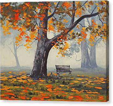 Park Bech Canvas Print by Graham Gercken