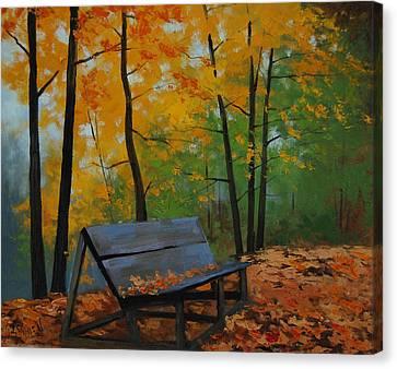 Park Bench  Canvas Print by Graham Gercken