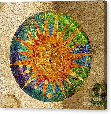 park Guell, Barcelona, Spain Canvas Print by Anastasy Yarmolovich