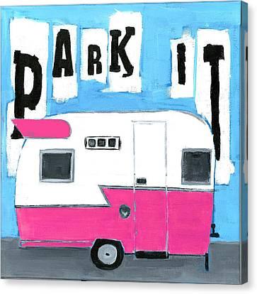 Park It- Pink Canvas Print by Debbie Brown