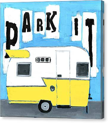 Park It-yellow Canvas Print by Debbie Brown