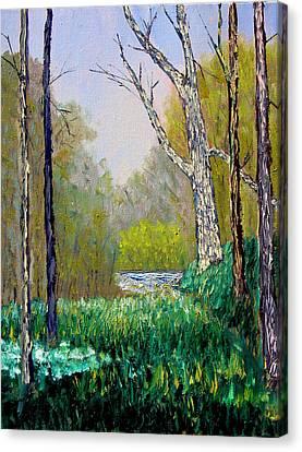 Park Meadow Canvas Print by Stan Hamilton