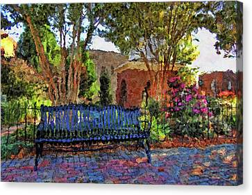 Park On Main Canvas Print by HH Photography of Florida