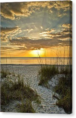 Park Shore Sunset Canvas Print