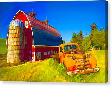 Parked In Front  II Canvas Print