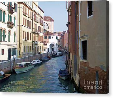 Canvas Print featuring the photograph Parked In Venice by Roberta Byram