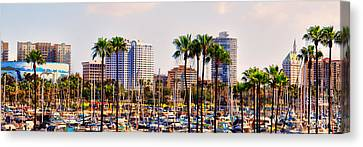 Parking And Palms In Long Beach Canvas Print by Bob Winberry
