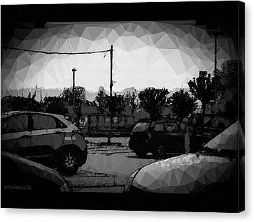 Canvas Print featuring the photograph Parking by Mimulux patricia no No