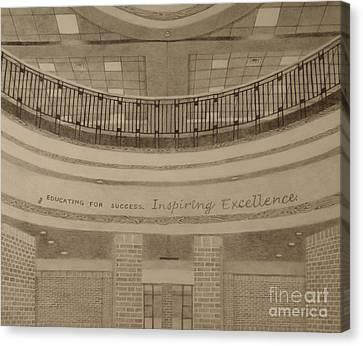 Brick Schools Canvas Print - Parkland Rotunda by Meg Goff