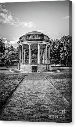 Parkman Bandstand Boston Common Black And White Photo Canvas Print by Paul Velgos
