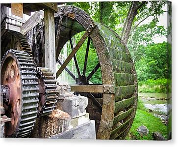 Parks Mill Abingdon Virginia Canvas Print by Karen Wiles